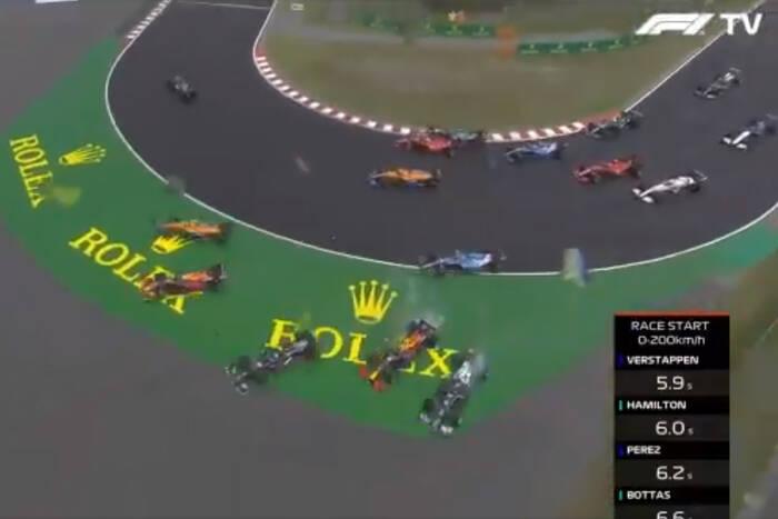 Co za początek GP Węgier! Valtteri Bottas spowodował gigantyczną kraksę [WIDEO]
