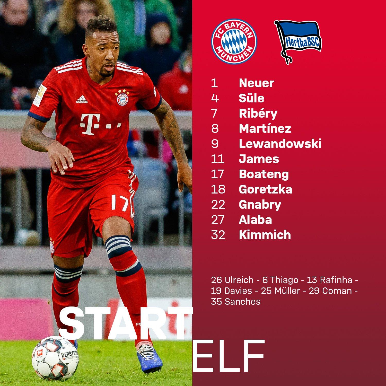 Bayern na Herthę
