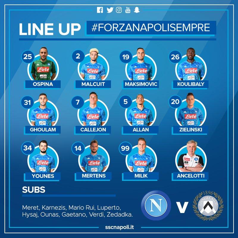 Napoli na Udinese