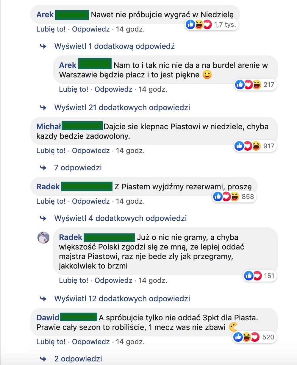 Lech Poznań komentarze kibiców