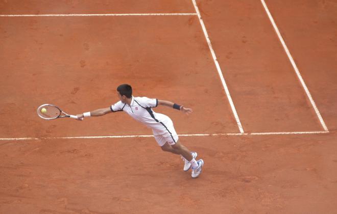 Novak Djoković - mecz tenisa ziemnego
