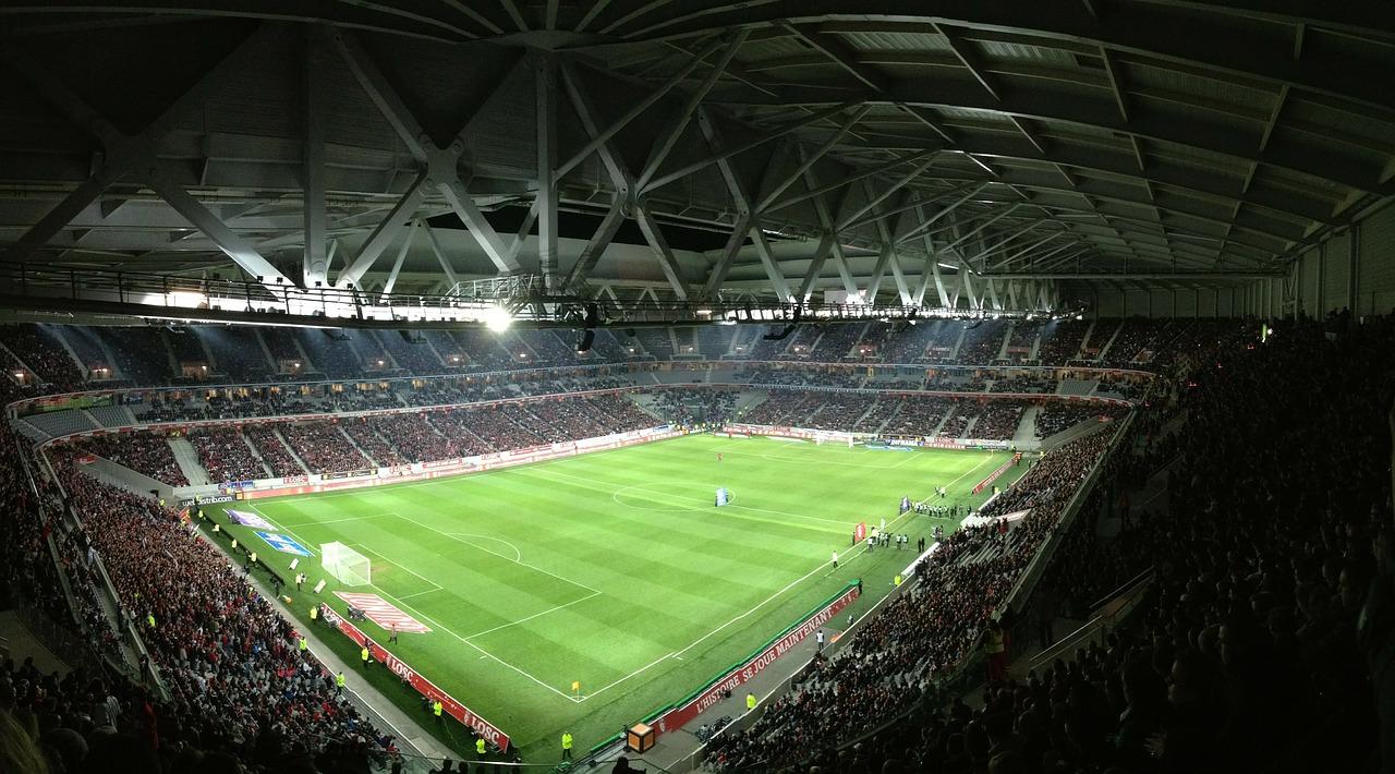 Stadion piłkarski - mecz