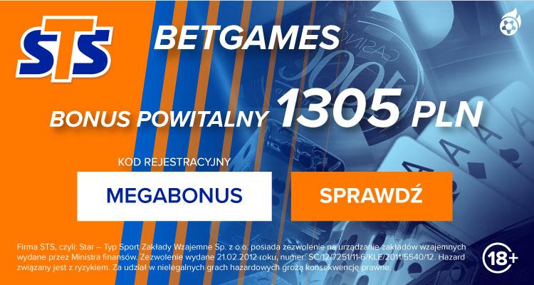 Bukmacher STS- bonusy i promocje Betgames