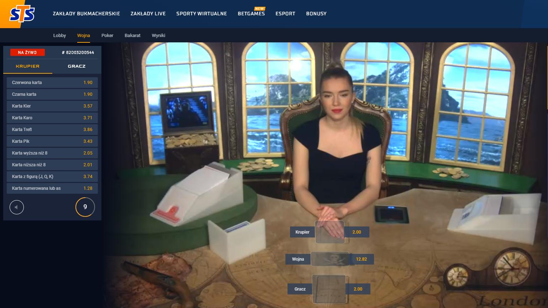 Przed rozdaniem pierwszej karty - gra karciana wojna online