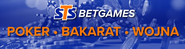 STS Betgames - wojna, bakarat, poker - gry wirtualne