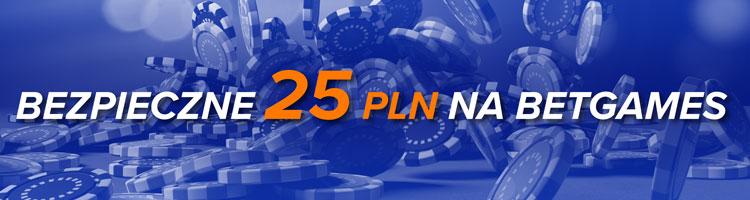STS Betgames - promocja bezpieczne 25 PLN