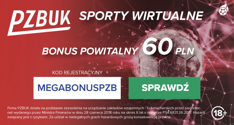 Bukmacher PZBuk - sporty wirtualne - bonusy i promocje