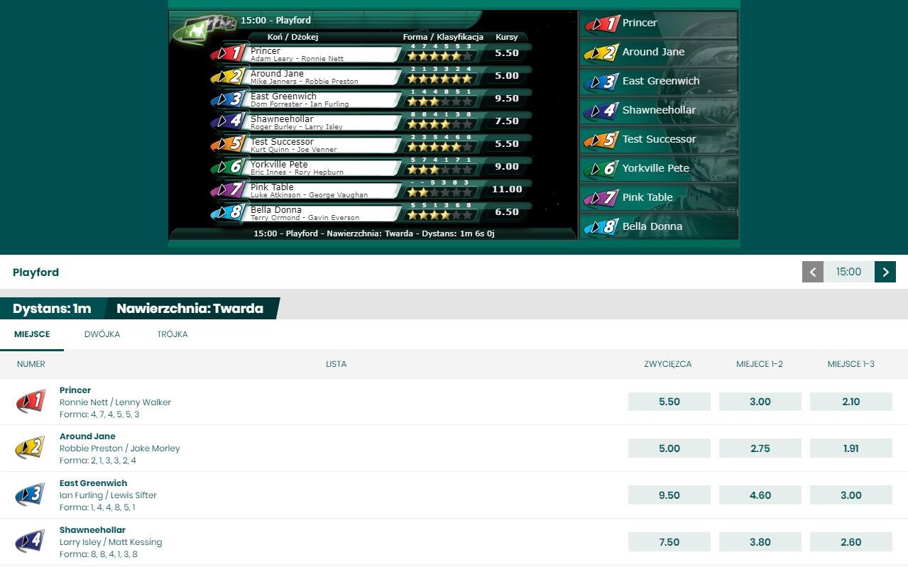 Sporty wirtualne w Betfan - wyścigi konne