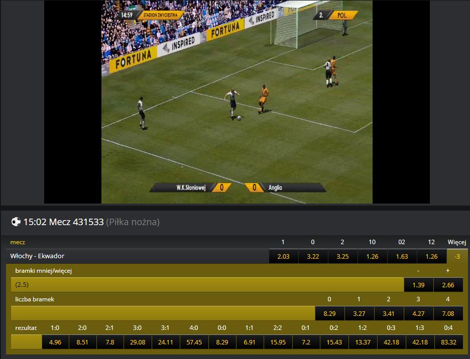 Sporty wirtualne w Fortunie - piłka nożna