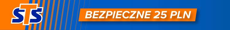 Bukmacher STS - promocja bezpieczne 25 PLN esport
