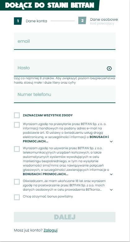 betfan kod promocyjny rejestracja1