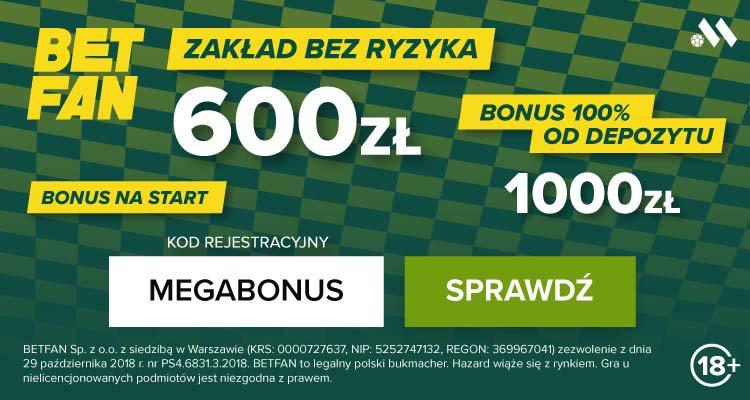 Betfan - bonusy i promocje Euro 2020